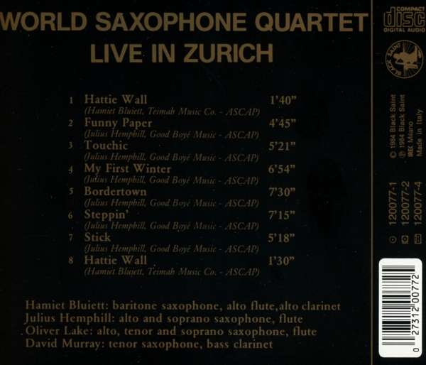 World Saxophone Quartet - Live In Zurich