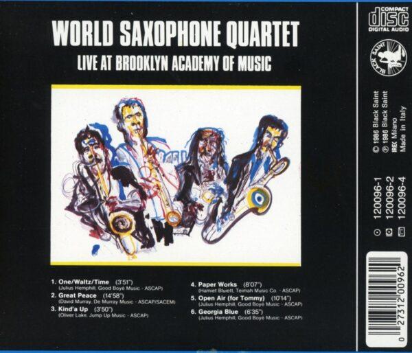 World Saxophone Quartet - Live At Brooklyn Academy Of Music